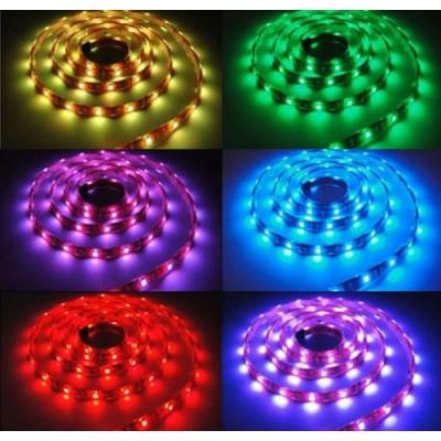 LED лента SMD5050,7.2W/M,RGB,12V DC, 30LEDS/M,5M,неводоустойчива - Цена: