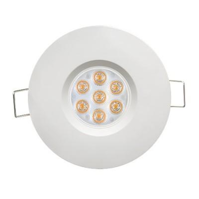 LED луна за вграждане насочена IP44 6.5W, 4200K, 220V, неутрална светлина,45° бяла - Цена: 11.10 лв.