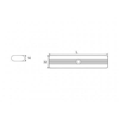 Лост светещ за гардероб 60см/с батерии/ - Цена: 16.80 лв.