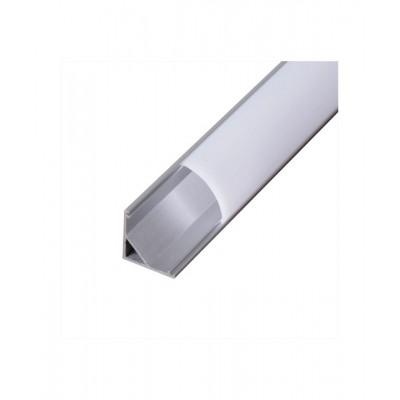 Алуминиев ъглов профил за LED лента, 2 метра - Цена: 11.52 лв.