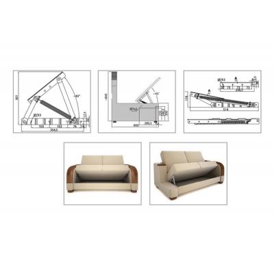 Механизъм за диван - голям - Цена: 14.40 лв.