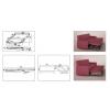 Механизъм за потапящ диван със стопер (среден) - Цена: 13.20 лв.