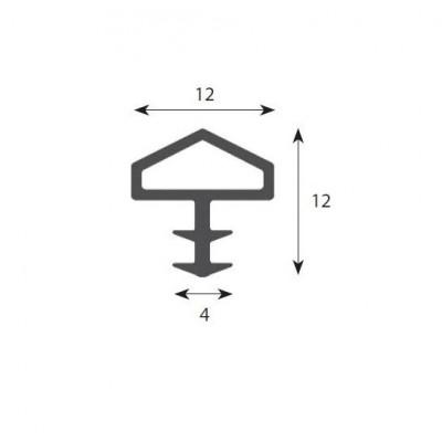 Уплътнение за врати 12мм (къщичка) - Цена: 0.42 лв.