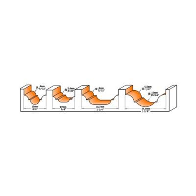 Профилен фрезер CMT D=31.7мм L=58мм R=4мм I=13 S=8 Z=2 - Цена: 77.70 лв.