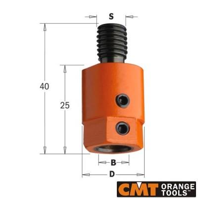 Адаптор за многошпинделна машина CMT B=10мм D=19.5мм S=10мм - Цена: 15.78 лв.