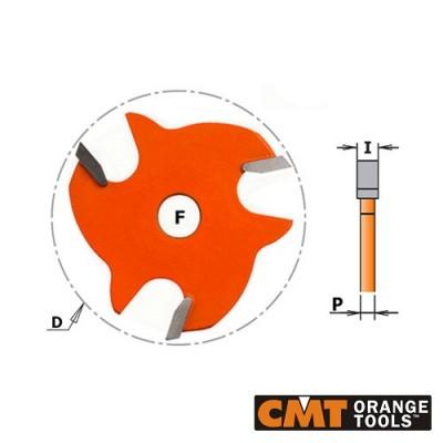 Нут фрезер CMT D=47.6мм, I=1.5-6.4 мм, B=8мм - Цена: 27.60 лв.