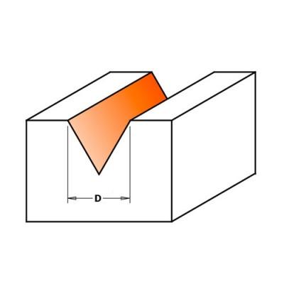 Профилен фрезер CMT D=12.7мм L=57мм A=60° I=11мм S=8мм Z=3 - Цена: 48.12 лв.