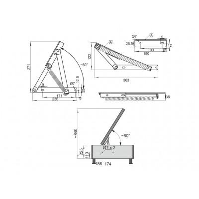 Пружинен механизъм за легло - малък - Цена: 5.76 лв.