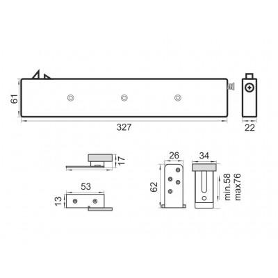 Плавно затваряне за  MPV-70/ MPV-80 / MPV-04 - Цена: 18.00 лв.