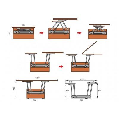 Механизъм за сгъваема маса - Цена: 134.40 лв.
