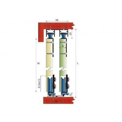 Механизъм за плъзгащи врати MPV - 80R - Цена: 9.06 лв.
