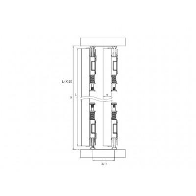 Механизъм за плъзгащи врати MPV - 80 - Цена: 12.00 лв.