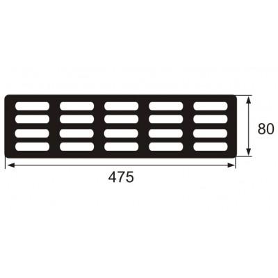 Пластмасова решетка 466х70 мм - Цена: 4.32 лв.