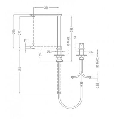 Кухненски смесител с керамична глава за монтаж под прозорец FO 985 - TEKA - Цена: 379.80 лв.