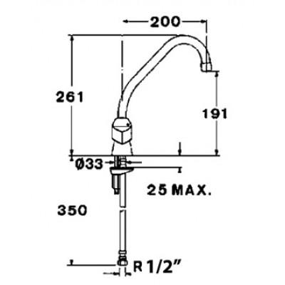 Кухненски смесител Laser - TEKA - Цена: 118.80 лв.