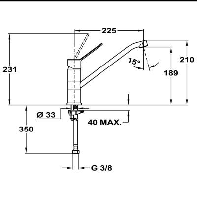 Кухненски смесител с керамична глава MT PLUS 993 - TEKA - Цена: 159.00 лв.