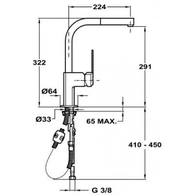 Кухненски смесител с керамична глава MZX Pull-out - TEKA - Цена: 462.90 лв.