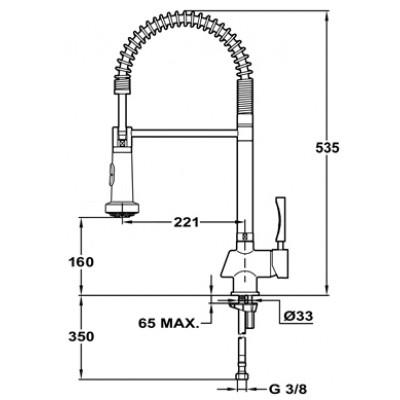 Кухненски смесител с керамична глава PRO - TEKA - Цена: 498.90 лв.