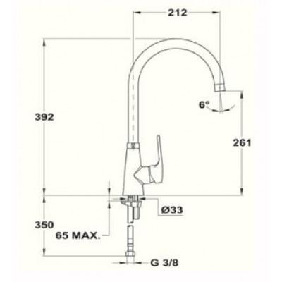 Кухненски смесител с керамична глава VITA K 915 - TEKA - Цена: 246.00 лв.