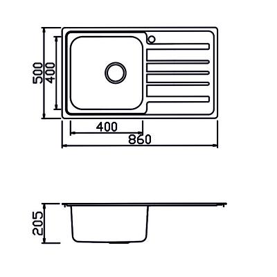 Мивка с плот М-208 - Цена: 155.10 лв.