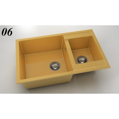 Мивка 233 - полимермрамор две корита FAT - Цена: 255.00 лв.