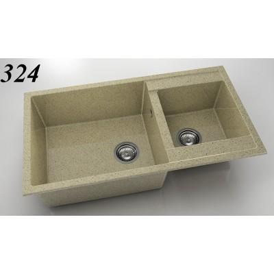 Мивка 234 - граниксит с две корита FAT - Цена: 331.80 лв.