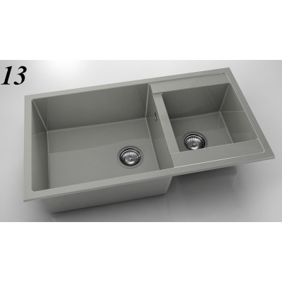 Мивка 234 - полимермрамор с две корита FAT - Цена: 255.00 лв.