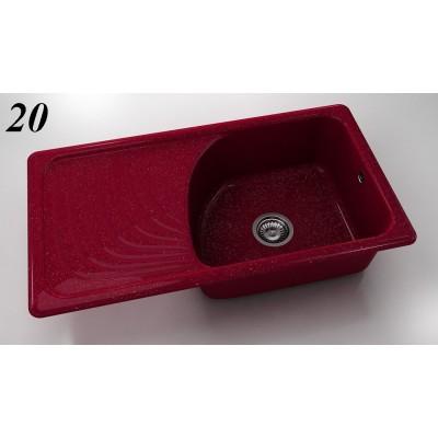 Мивка 203 - полимермрамор FAT ляв плот - Цена: 216.00 лв.