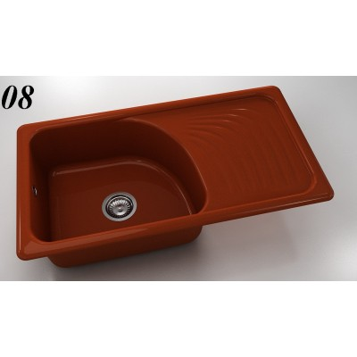 Мивка 205 - полимермрамор FAT десен плот - Цена: 216.00 лв.