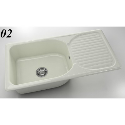 Мивка 212 - полимермрамор FAT ляв/десен плот - Цена: 222.00 лв.
