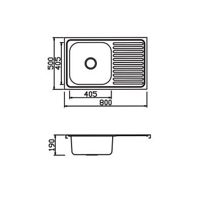 Бордова мивка с плот М-787 - Цена: 96.00 лв.