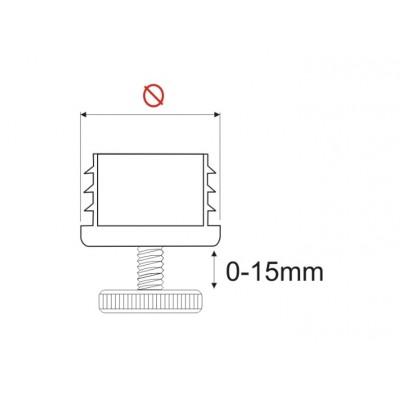 ПВЦ стъпка регулируема ф40 - ZOBAL - Цена: 3.90 лв.