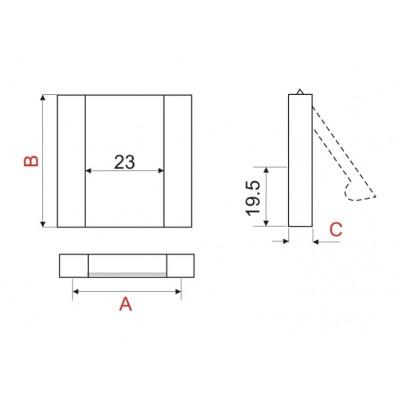 Мебелна дръжка AA-114 - Цена: 4.20 лв.
