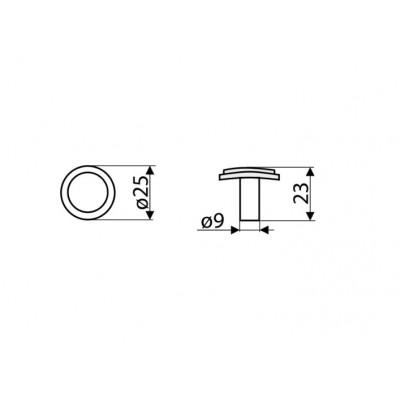 Мебелна дръжка GA05 - GAMET - Цена: 2.10 лв.