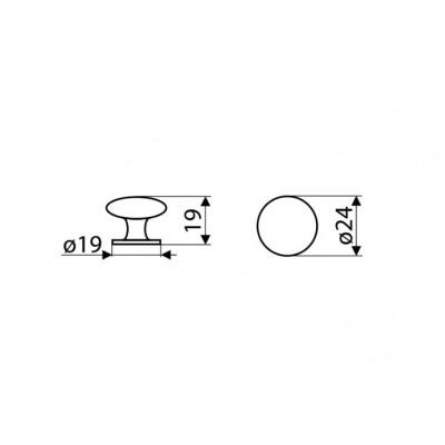 Мебелна дръжка GN10 - GAMET - Цена: 4.20 лв.