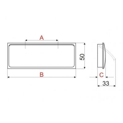 Мебелна дръжка R132 - Цена: 15.60 лв.