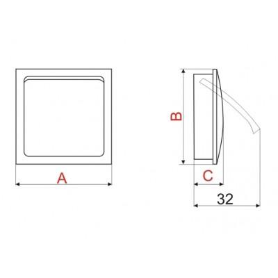 Мебелна дръжка S50 - Цена: 8.40 лв.