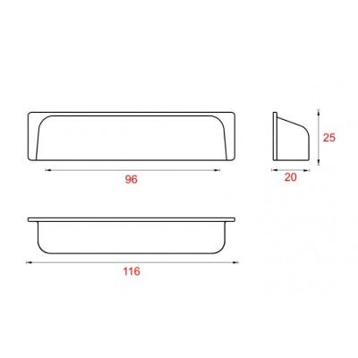 Мебелна дръжка UP11 - GAMET - Цена: 4.80 лв.