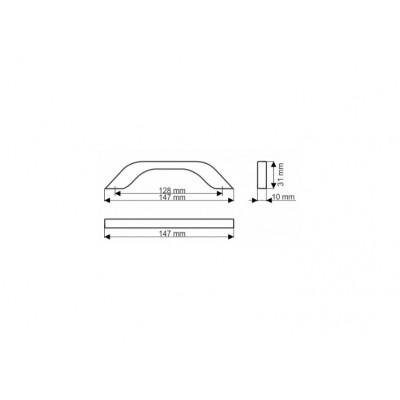 Мебелна дръжка UU17 192 мм - GAMET - Цена: 6.60 лв.