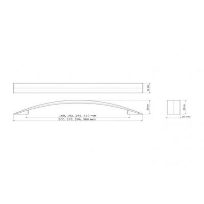 Мебелна дръжка UU35 320 мм - GAMET - Цена: 3.00 лв.