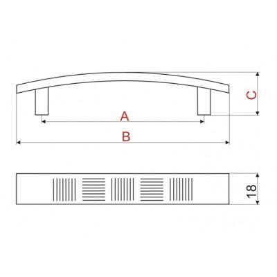 Мебелна ПВЦ дръжка UX12 - GAMET - Цена: 0.84 лв.