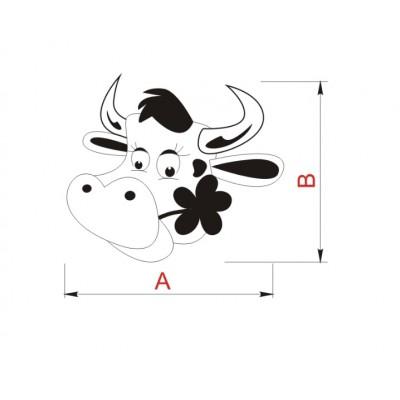 Детска гумирана дръжка - крава - Цена: 3.00 лв.