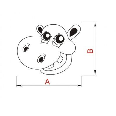 Детска гумирана дръжка - хипопотам - Цена: 3.00 лв.
