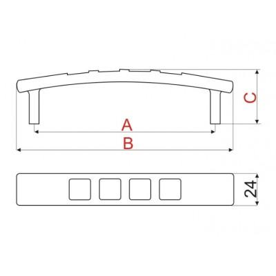 Мебелна дръжка RR08 128 мм - GAMET - Цена: 4.80 лв.