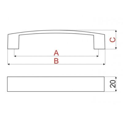 Мебелна дръжка UA10 - GAMET - Цена: 6.00 лв.