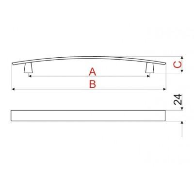Мебелна дръжка UU70 - GAMET - Цена: 8.70 лв.