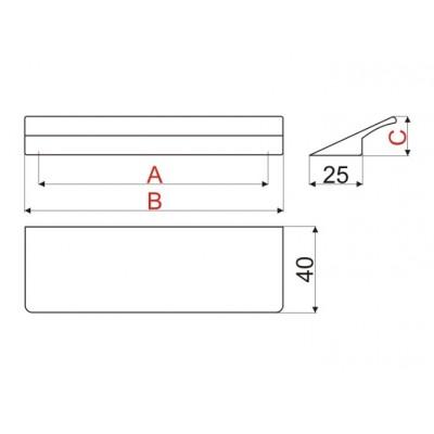 Мебелна дръжка WPY322 - Цена: 5.70 лв.