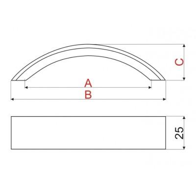 Мебелна дръжка WPY338 - Цена: 4.80 лв.