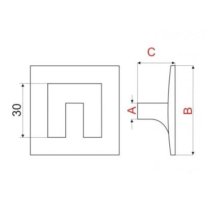 Мебелна дръжка GS16 - GAMET - Цена: 4.80 лв.