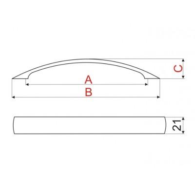 Мебелна дръжка US16 - GAMET - Цена: 6.00 лв.